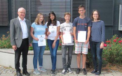 Erfolgreiche Teilnahme an naturwissenschaftlichen Schülerwettbewerben